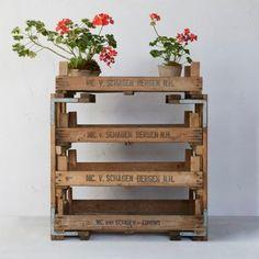 Vintage Bulb Crate Rack