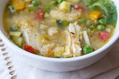 Lemony Chicken & Spring Veggie Soup without quinoa and butter = paleo