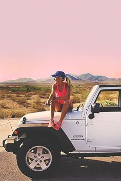 love the white jeep