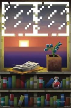 The Minecraft - Window poster is the perfect decoration for any Minecraft lover. Images Minecraft, Minecraft Posters, Minecraft Designs, Minecraft Creations, Minecraft Projects, Minecraft Crafts, Minecraft Memes, Minecraft Furniture, Minecraft Kunst
