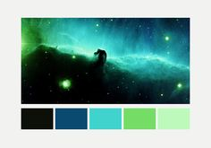 Nebulas and their color palettes