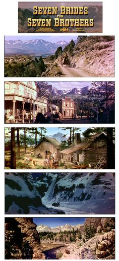 """Seven Brides for Seven Brothers"" matte Paintings"