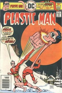 """WK - Plastic Man (real name Patrick """"Eel"""" O'Brian) is a fictional comic-book superhero originally published by Quality Comics and later acquired by DC Comics. Dc Comic Books, Comic Book Covers, Comic Art, Dc Comics Art, Marvel Dc Comics, Comic Book Characters, Comic Character, Absorbing Man, Plastic Man"""