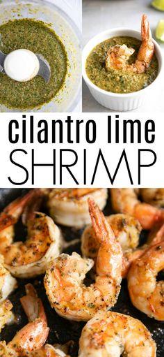 Cilantro Lime Shrimp Recipe (with Marinade and Sauce) pasta rezept healthy pasta recipes Cilantro Lime Marinade, Lime Shrimp Recipes, Shrimp Marinade, Cilantro Lime Shrimp, Sauce For Shrimp, Recipes With Cilantro, Spicy Garlic Shrimp, Cooked Shrimp, Lime Recipes