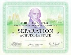 "James Madison was the principal drafter of the United States Bill of Rights. Advocated ""total separation of the church from the state."""