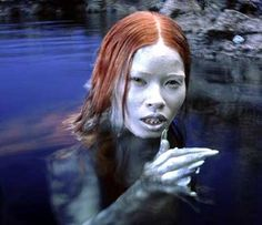 Mermaid - Peter Pan movie// this is an example of the few times when mermaids have been represented as very ugly and frightening creatures instead of being a symbol of beauty. Their skin looks cold and rough.