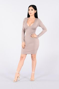 Dress Me Up Or Down Dress - Dark Mocha