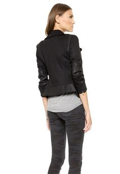 You NEED our Moto Jacket in Black Ponte in your closet rotation. Shop Now! http://jamesjeans.us/moto-jacket