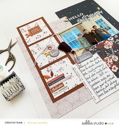 Sahlin Studio | Digital Scrapbooking Designs » FREE Digital Scrapbooking Template / Sketch | October '21