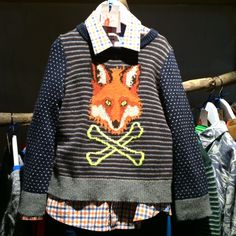 Still a favourite Mr Fox is back on this boys sweater from Mini Boden for fall 2015 kidswear