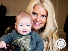 Jessica Simpson and her baby gir, Maxwell. #toocute #ivillage #jessicasimpson