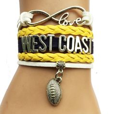 Drop Shipping Infinity Love West Coast Bracelet-Customized Australian Football Charm Sports Club Gift for Friendship Teams West Coast Eagles, Football Bracelet, Australian Football, Eagles Fans, Infinity Love, Sports Clubs, Selling Online, Football Team, Friendship