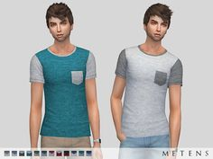 Fransisco T-shirt by Metens at TSR via Sims 4 Updates