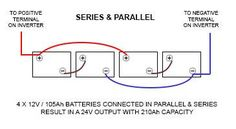 battery connected in series and parallel 12v 100 a