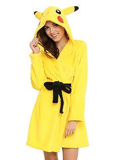 Pokemon Pikachu Girls Hooded Robe,