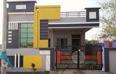 House Front Wall Design, House Balcony Design, Single Floor House Design, Modern Small House Design, Village House Design, Simple House Design, Bungalow House Design, Front Design, House Elevation