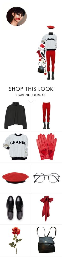 """""""That lipstick colour suits you well!"""" by bubblegumbae ❤ liked on Polyvore featuring Marni, Ann Demeulemeester, Chanel, kangol, red, LIPSTICK, aesthetic and clotheshavenogender"""
