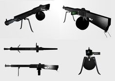 Broadsword Machine Gun  Copyright Iain Bruce 2013  Modelled, textured and rendered in Blender