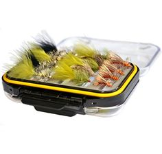 Outdoor Planet Double Side Waterproof Pocketed Fly Box + Assorted Trout Fly Fishing Lure Pack of 15 Fly Lure - Middle fly box + 28Pieces (Streamer fly collection + Stimulator)  http://fishingrodsreelsandgear.com/product/outdoor-planet-double-side-waterproof-pocketed-fly-box-assorted-trout-fly-fishing-lure-pack-of-15-fly-lure/?attribute_pa_color=middle-fly-box-28pieces-streamer-fly-collection-stimulator  20Pieces Streamer flies collection + 8 Pieces Stimulators Fly size covers