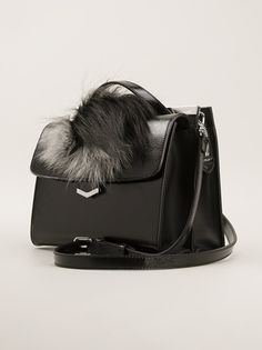FENDI - fur detail mini satchel bag 10