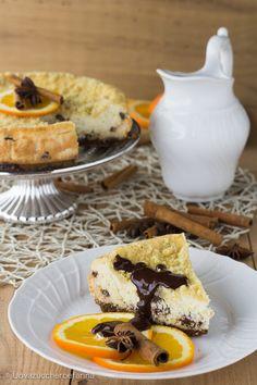 cheesecake ricotta arancia salsa cioccolato