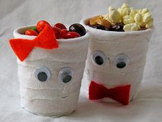 Fun and Easy Halloween Treats | ... eating their treats from their own homemade mummy treat cups head over