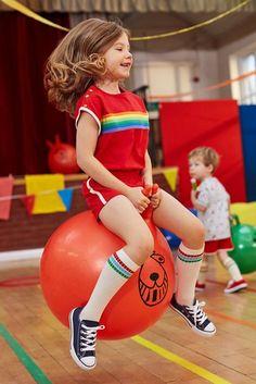 Little Bird by Jools Oliver Rainbow Playsuit Retro Kids, Cute Little Girls, Cute Kids, Amusement Enfants, Little Bird By Jools, Jools Oliver, Kid Poses, Cute Outfits For Kids, Kids Sports