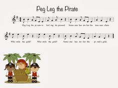 Kate's Kodály Classroom: Peg Leg the Pirate (syncopation)