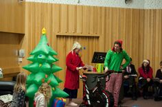Ever seen a lecture like this? Our engineering department know how to Christmas