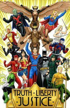 Justice League of America Arte Dc Comics, Dc Comics Superheroes, Dc Comics Characters, Green Arrow, Aquaman, Desenhos Hanna Barbera, Comic Art, Comic Books, Hero Tv
