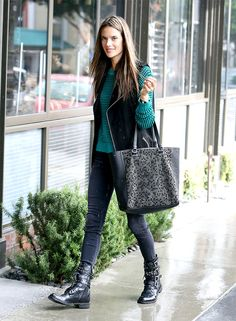 8d8e02bc10f29 Hangover Chic: 12 Comfortable And Cute Looks via @WhoWhatWear Alessandra  Ambrosio, What To