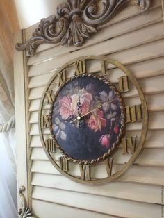 Купить Чассы Викторианская роза большие - часы, часы настенные, часы интерьерные