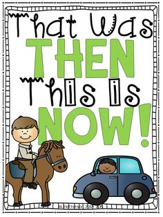 Awesome and fun reader to teach about then and now