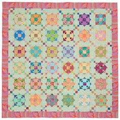 Diamond Ring quilt designed by Sally Schneider - from the book Scrap Quilts Fit for a Queen