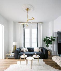6 Small Living Room Design Tips and Ideas - Des Home Design Interior Design Minimalist, Modern Interior Design, Interior Design Inspiration, Home Design, Design Ideas, Contemporary Interior, Salon Design, Contemporary Chandelier, Modern Interiors