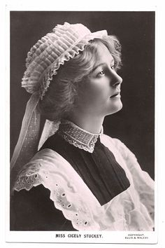 Theatrical postcards, Miss Cicely Stuckey, 1900s