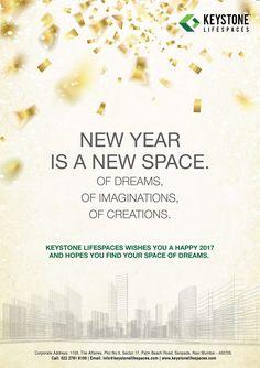 Keystone Lifespaces wishes you all a very Happy New Year www.keystonelifespaces.com #NewYear2017 #Celebration #Occasion