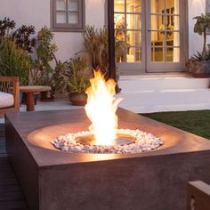 Advanced and contemporary, Brown Jordan fire pits: Cloud is fired by the most advanced bioethanol burner technology available! Equipped with EcoSmart Fire burners and new burner technology.   Burners are completely self-contained so you'll never need a utility connection or any type of venting! | Jack Wills Outdoor Living