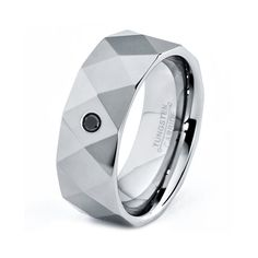 Mens Tungsten Carbide Wedding Band Ring 8mm Black by GiftFlavors, $79.77