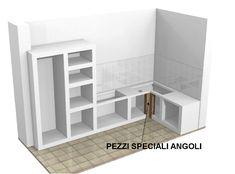 Cucina in Finta Muratura Rustica Tinta Noce con Nicchie ad Arco ...