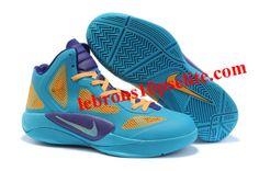 buy online 28a59 a5491 Nike Zoom Hyperfuse 2011 Blue Glow Orange Purple