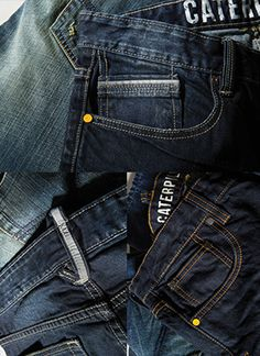 Collection Wednesday, steel blue denim detail equip yourself. #CatDenim #Builttolast #Steelblue