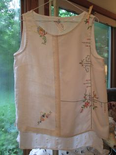 A story of vintage linens....from The Potluck Clothing Company....One of a kind.