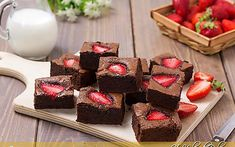 Brownies alle fragole velocissimi ricetta