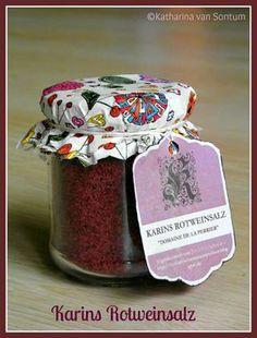 ich hab da mal was ausprobiert: mein Rotweinsalz - eine (abgefahrene) Geschenkidee