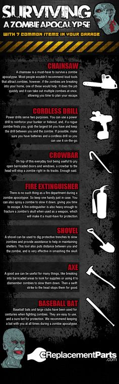 Surviving a zombie apocalypse with 7 common items in your garage