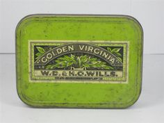 Golden Virginia tin - Inside our school desks we kept our crayons in these tins. Vintage Packaging, Blink Of An Eye, Childhood Days, Teenage Years, My Memory, New Words, The Good Old Days, School Desks, Virginia