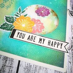 """""""You are my happy"""" #lovecards"""
