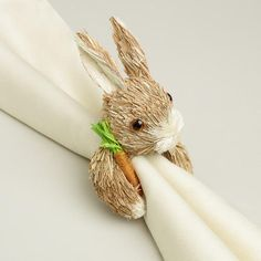 One of my favorite discoveries at WorldMarket.com: Bunny and Carrot Napkin Ring, Set of 4!  I'm so buying these this Easter!  Love me some World Market!!!