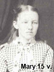 Mary Amelia Ingalls (10 Jan 1865 – 20 Oct 1928) was born near the town of Pepin, Wisconsin. She was the first child of Caroline and Charles Ingalls. This photo cropped from one of Mary, Laura and Carrie, taken in 1881, perhaps just before Mary went away to the School for the Blind, was the first photograph they sat for. Ma and Pa saw it as a treasure and a remembrance, the three girls together.